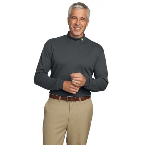Port Authority® Interlock Knit Mock Turtleneck