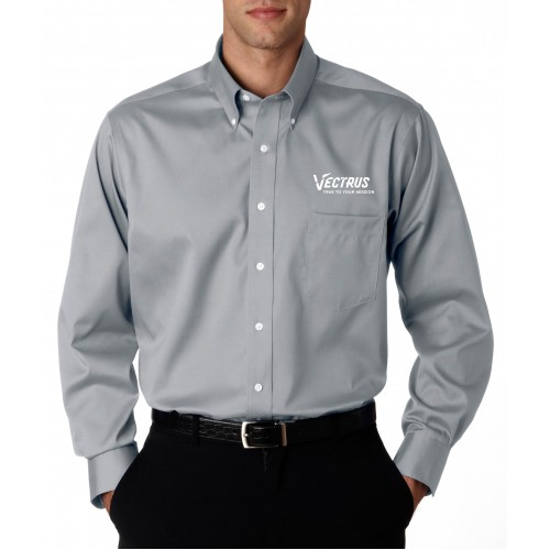 Mens Long Sleeve Pin Point Oxford